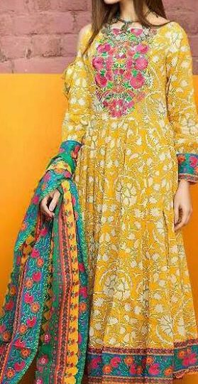 Suit ₹28,554,562 – Agra, Uttar Pradesh Top – cemric cotton printed with self embroidery…