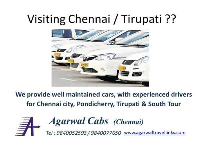 For CAB RENTALS in Chennai for Tirupati/Local/South India Tour with Hindi/English manageable driver ₹1…