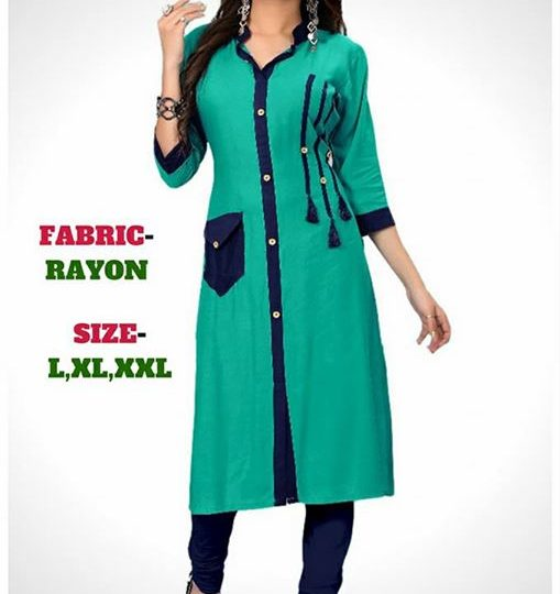 Kurati ₹599 – All india contact:-call/whatsaap:-7567163890 Rayon Kurti Size :- L, XL, XXL Price…