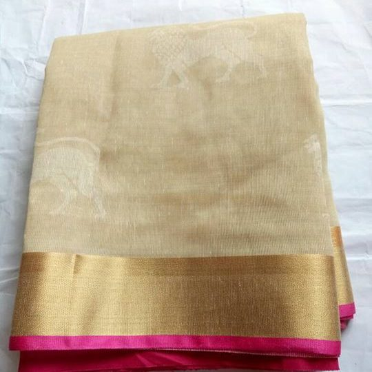 Saree's ₹1,499 – Therubali, India Exclusive jute fancy silk with contrast blouse 1499+$ Contact…