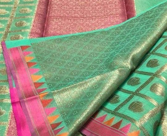 Silk Kota ₹2,120 – Calcutta, India Silk Kota with Zari weaves. With soft broket…