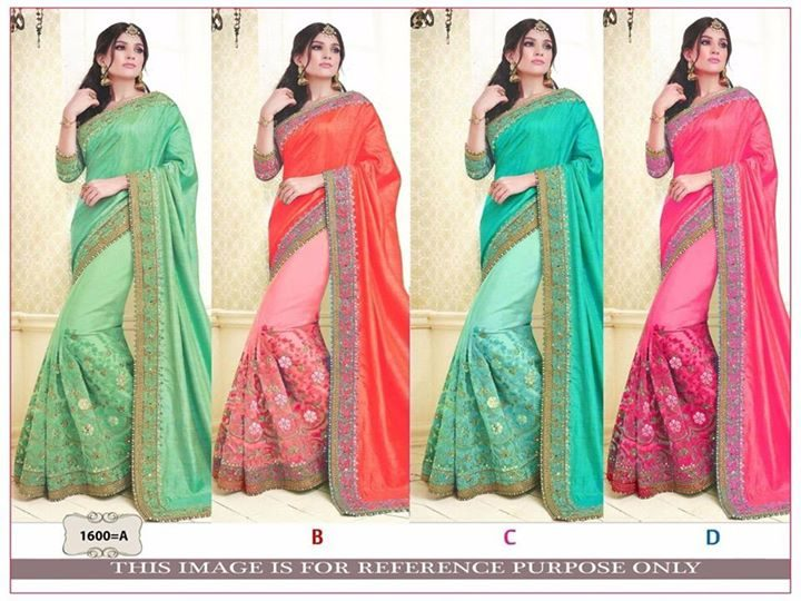 Fancy Saree ₹2,000 – Surat, Gujarat KT-1600 BRIDAL WEDDING COLLECTION A-B-C-D RATE :2000 PALLU…